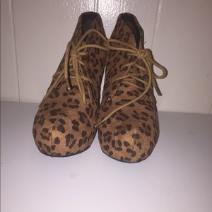 Cheetah Print Wedges